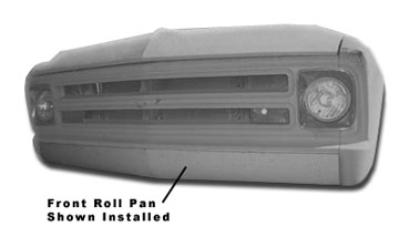 Steel Front Roll Pan, Installed